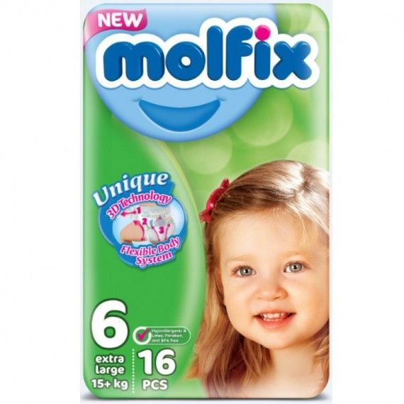 MOLFIX Couche 6 ( 16 Pieces )
